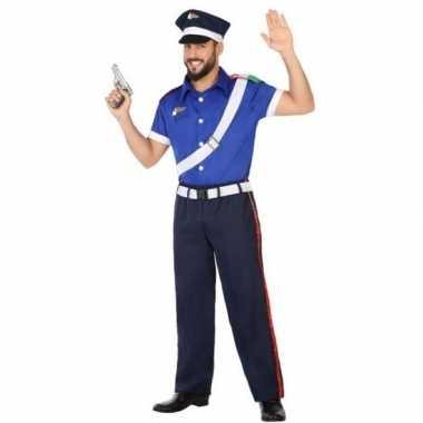 Italiaanse politie verkleed pak/verkleedkleren voor volwassenen