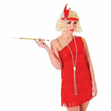 Jaren 20 verkleedkleren rood jurkje