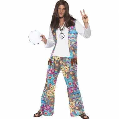 Jaren 60 hippie verkleedkleren groovy voor heren