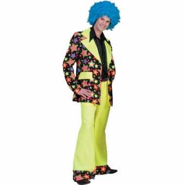 Jaren 70 verkleedkleren met felle kleuren voor heren