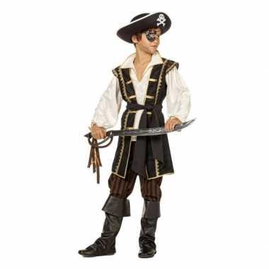 Jongens piraten verkleedkleren bruin