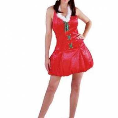 Kerst verkleedkleren met muts voor dames