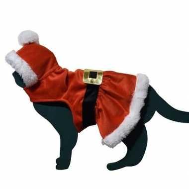 Kerstman pakje verkleedkleren voor kat/poes
