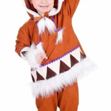 Kids eskimo verkleedkleren compleet