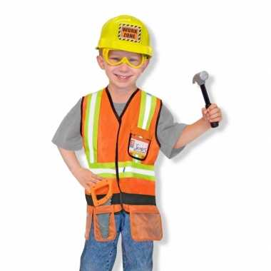 Kinder verkleedkleren bouwvakker