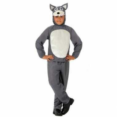 Kinder verkleedkleren grijs wolfje