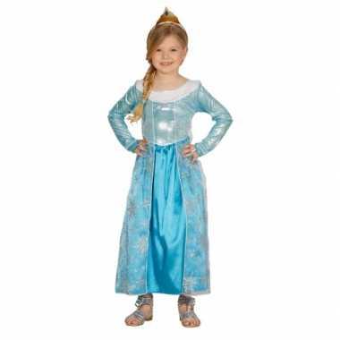 Kinderverkleedkleren blauw prinses jurkje