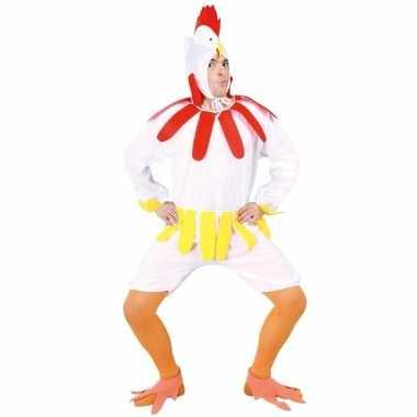 Kip/haan verkleedkleren wit voor volwassenen