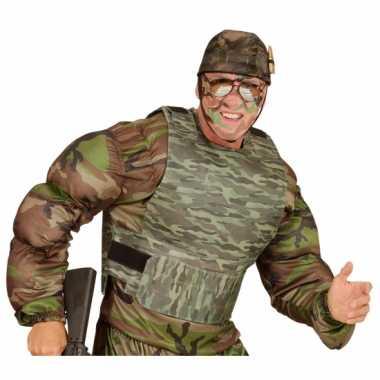 Kogelvrij leger camouflage vest verkleedkleren accessoire