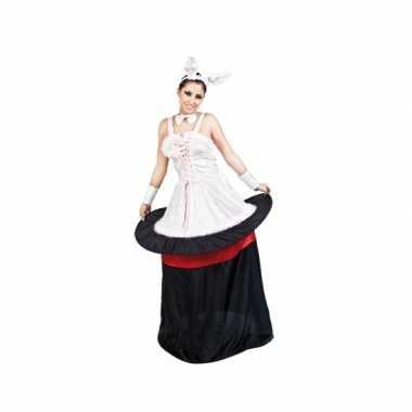Konijn in hoed dames verkleedkleren