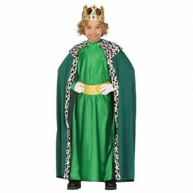 Koning mantel groen verkleedverkleedkleren voor kinderen