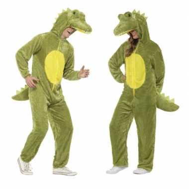 Krokodil onesie verkleedkleren voor volwassenen