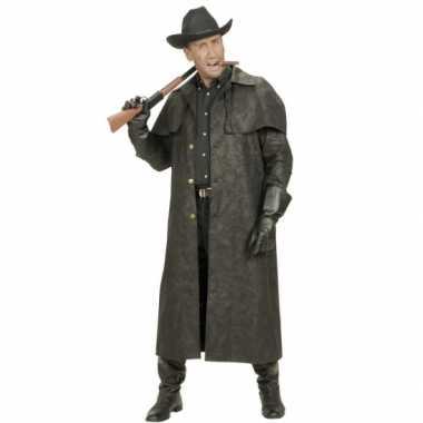 Lange heren jas voor cowboys verkleedkleren
