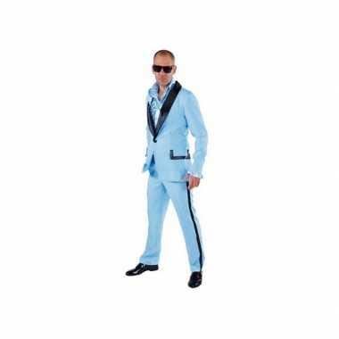 Lichtblauwe smoking verkleedkleren voor heren