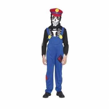 Loodgieter halloween skelet verkleedkleren voor kinderen