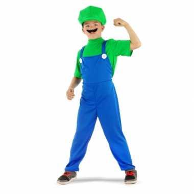 Loodgieter verkleedkleren groen voor jongens