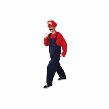 Loodgieter verkleedkleren rood voor heren