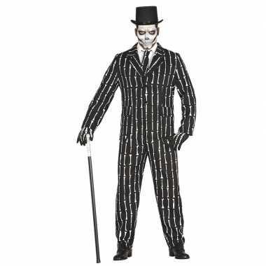Luxe 3 delig skeletten verkleedkleren voor heren