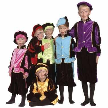 Luxe blauwe pieten verkleedkleren voor kinderen