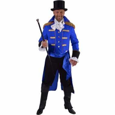 Luxe circus directeur verkleedkleren zwart voor heren