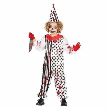 Luxe halloween verkleedkleren horror pierrot voor kids