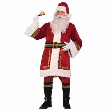 Luxe kerstman verkleedkleren voor heren