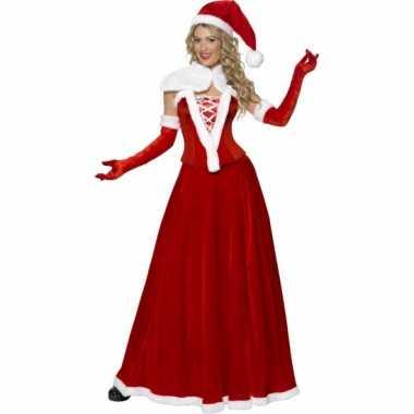 Luxe kerstvrouw verkleedkleren