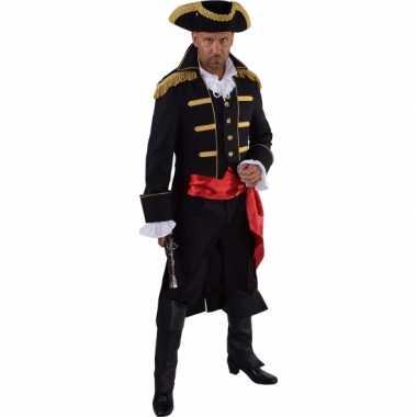 Luxe piraat verkleedkleren zwart voor heren