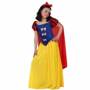 Luxe sprookjesprinses verkleedkleren met cape