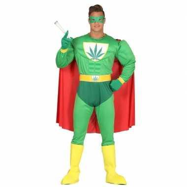 Marihuana man superheld verkleedkleren voor heren