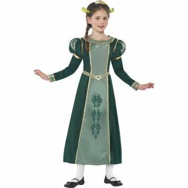 Meisjes groene prinses fiona shrek verkleedkleren