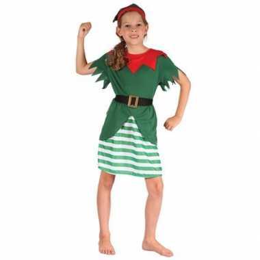 Meisjes kerstelf verkleedkleren