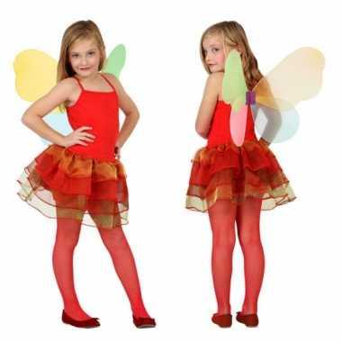 Meisjes vlinder verkleedkleren rood
