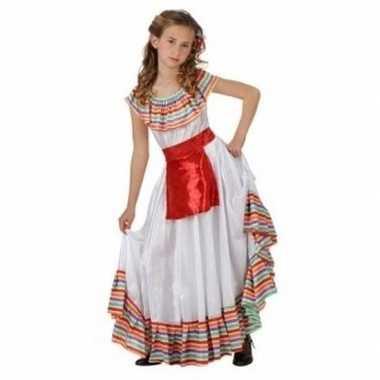 Mexicaans meisje verkleedkleren met rood schortje