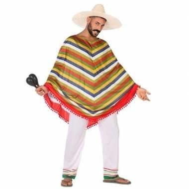 Mexicaans verkleedkleren/poncho voor heren