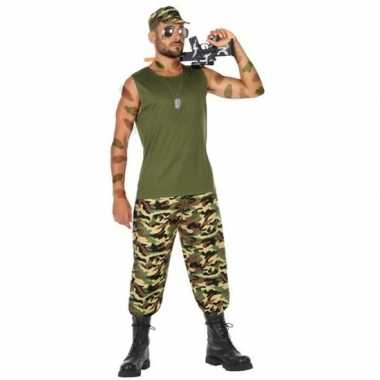 Militair/soldaat verkleed pak/verkleedkleren voor heren