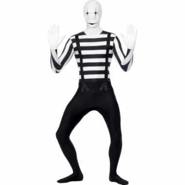 Mime artiest second skin verkleedkleren