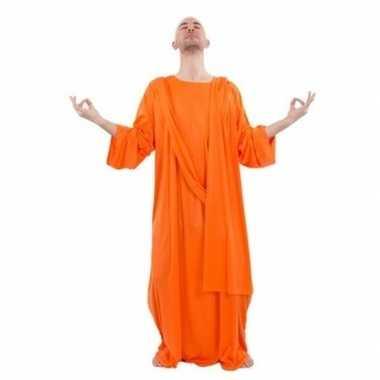 Monnik verkleedkleren oranje voor heren