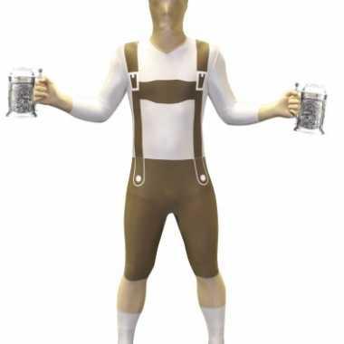 Morphsuit verkleedkleren lederhose
