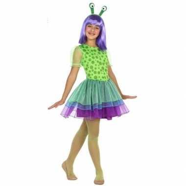Neon alien verkleedkleren voor meisjes