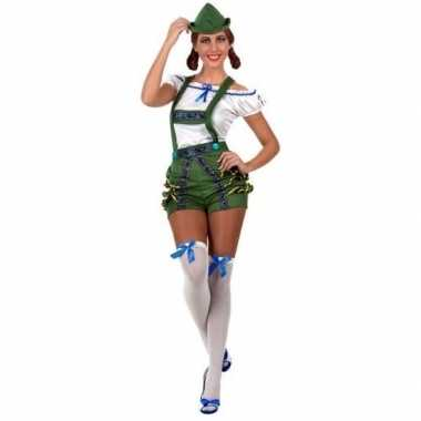 Oktoberfest sexy oktoberfest verkleed pak/verkleedkleren groen voor d