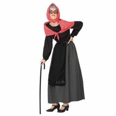 Oma verkleed jurk/verkleedkleren voor dames