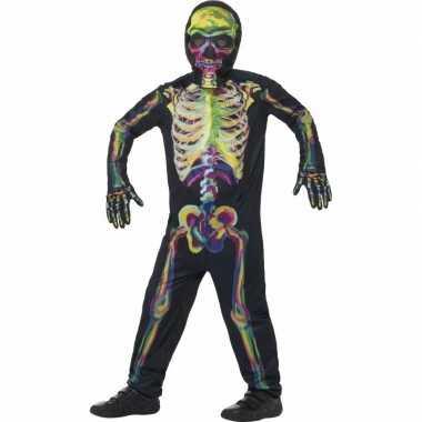 Oplichtende skelet verkleedkleren voor kinderen