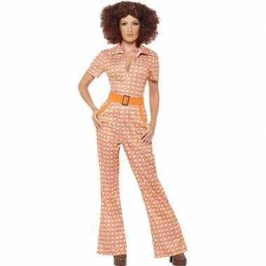 Oranje jaren 70 verkleedkleren voor dames