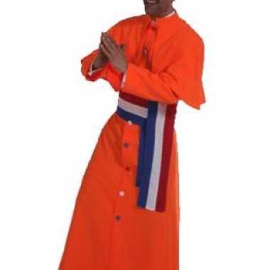 Oranje kardinaal verkleedkleren heren