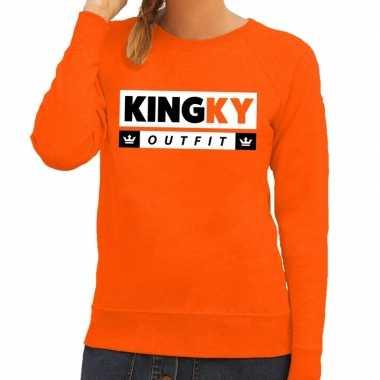 Oranje kingky verkleedkleren sweater voor dames