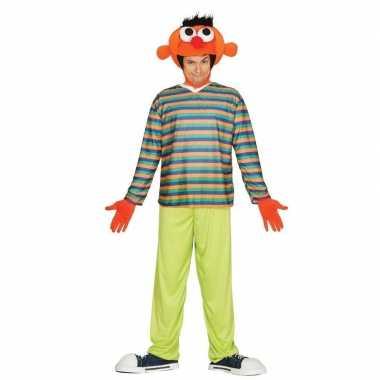 Oranje pop ernie verkleedkleren voor heren