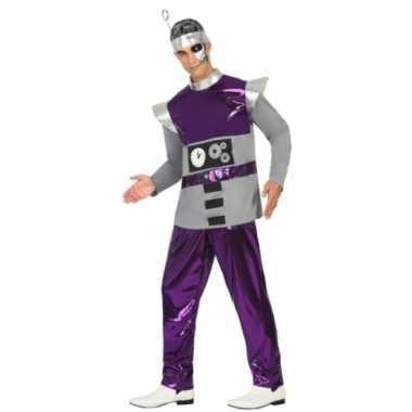 Paars robot verkleedkleren voor heren