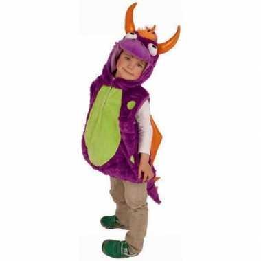 Paarse drakenverkleedkleren voor kinderen