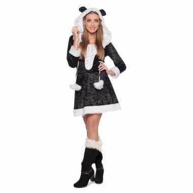 Panda dierenverkleedkleren jurkje voor dames